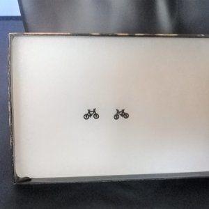 Jewelry - Tiny black bike studs